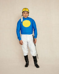 Jockey in blue, photographed at Hipódromo de San Isidro in Buenos Aires, Argentina.
